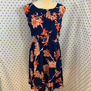 Maeve Anthropologie blue floral dress size M